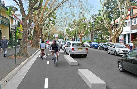 Bourke Street Bicycle Route