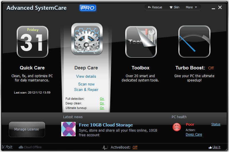 Advanced System Care Pro