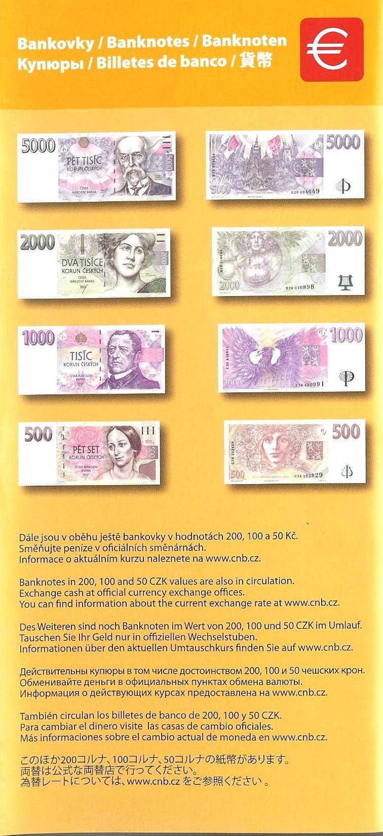 체코 프라하 화폐 모양