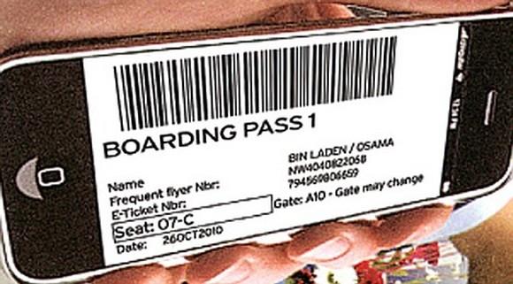 오사마 빈라덴 이름이 선명한 영국항공 탑승권