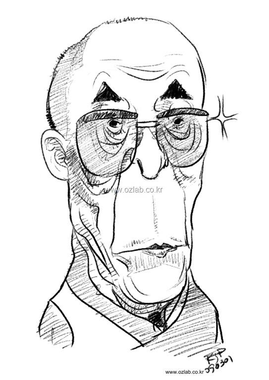 Dalai-Lama XIV Caricature