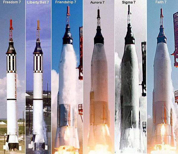 화성탐사선-Piloted Mercury launches.