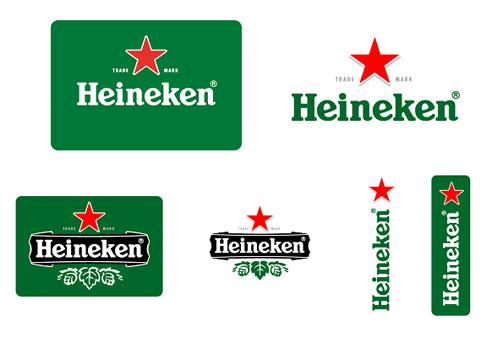하이네켄 새로운 로고 디자인