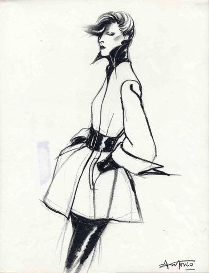 Antonio Lopez Fashion Illustrator Style