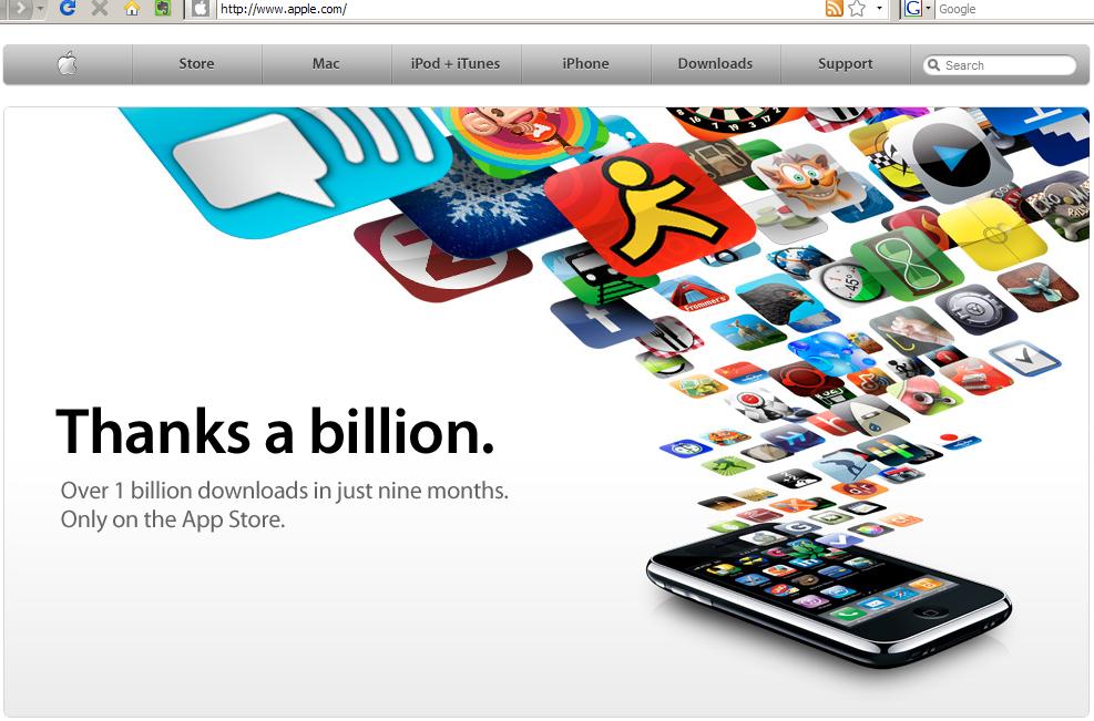 애플의 홈피에서 10:22분경에 화면 캡처