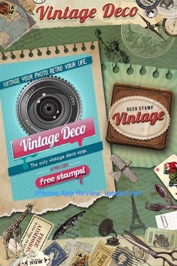 Vintage Deco 아이폰 사진 빈티지 스탬프