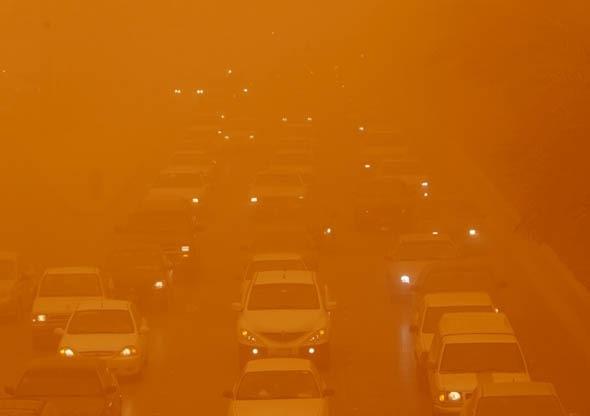 도시 덮치는 모래폭풍 영화아닌 실제상황