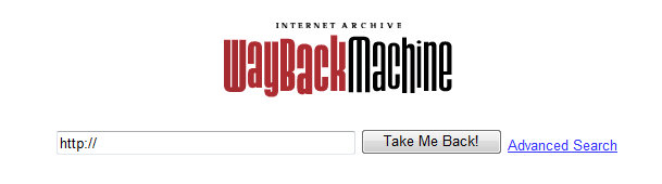 예전 홈페이지 내용을 보여주는 waybackmachine