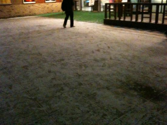 눈 내린 아트시네마 앞마당