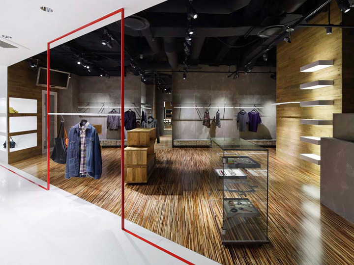 Interior exhibition vmd and a shop by moment design for Designer stuhle outlet
