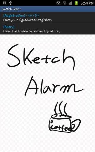 Creating an alarm to peel off
