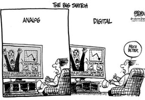 디지털 방송과 아날로그 방송의 차이