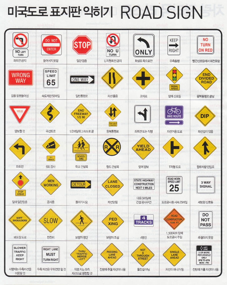 dmv road signs chart 1000 ideas about traffic signs and
