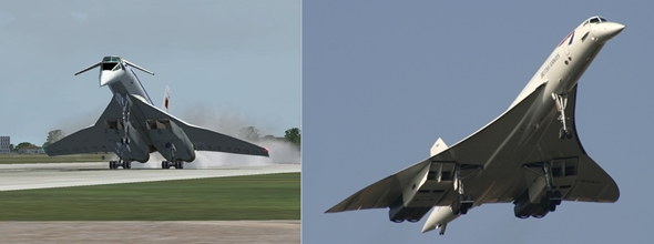대표적인 초음속 여객기 투폴레프 Tu-144(좌)와 콩코드(우)
