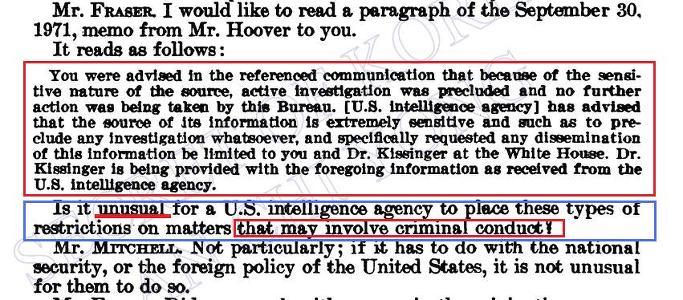 안치용,'박정희 대미로비 X파일'출판 : 미국의 청와대도청은 실재- 박정희 방탄차 알고보니 CIA가 제공 - 1978년 3월 21일 존 미첼 검찰총장 FBI메모관련 증언록