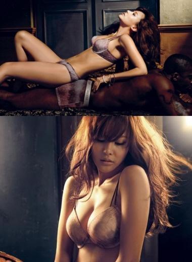가수 아이비, 아슬아슬 속옷만 걸치고… '짱 글래머'