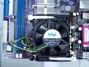 팬티엄4 CPU 조립 완료