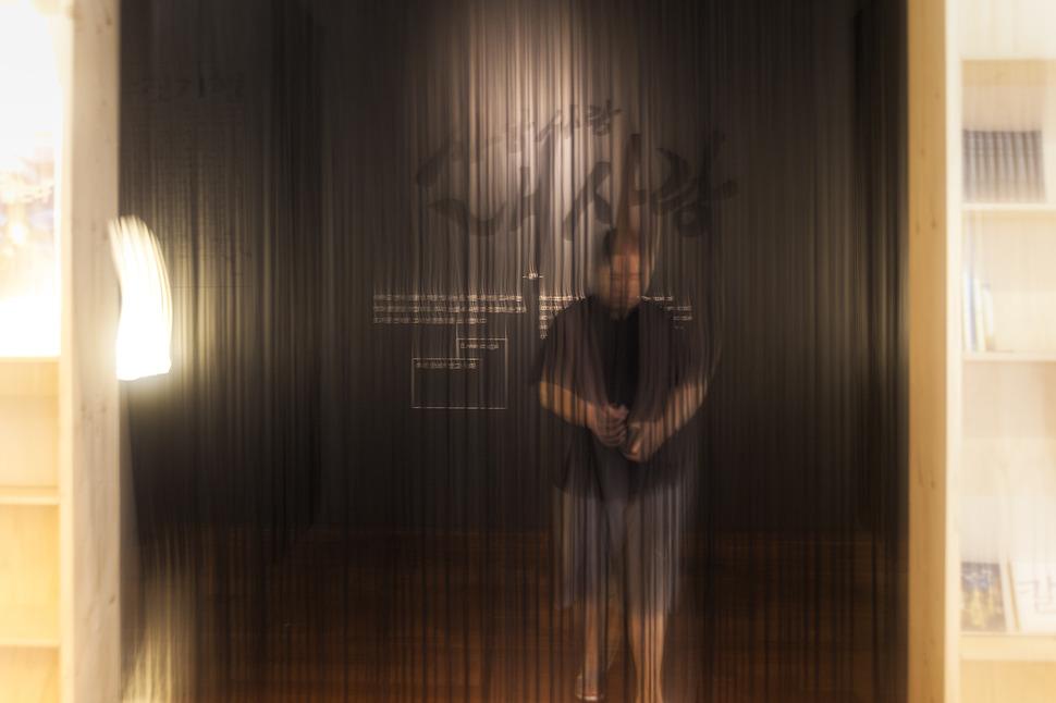 한글박물관에서 자주 마주치게되는 액자식 프레임으로 만들어진 공간