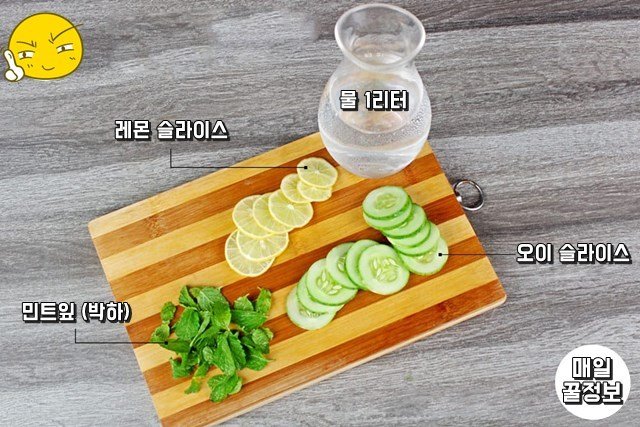 레몬물만들기 오이물만들기 효능 비타민워터