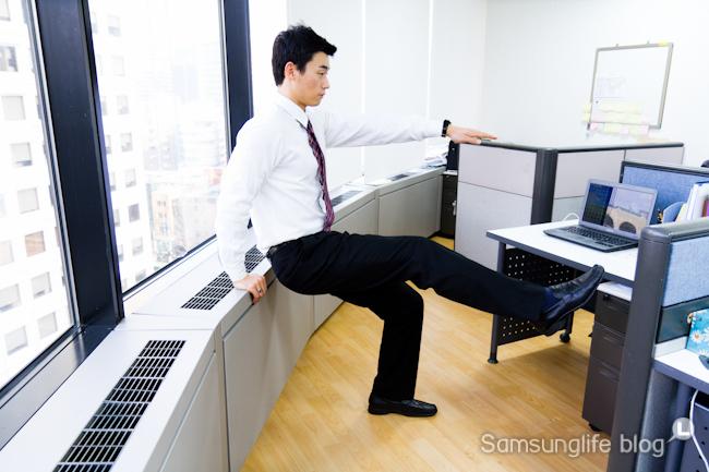 팔다리 대각선 들기 운동 2