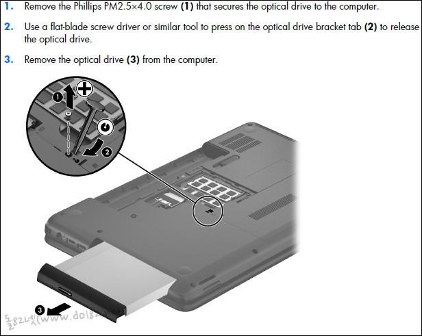 ODD(CD/DVD롬)도 분리