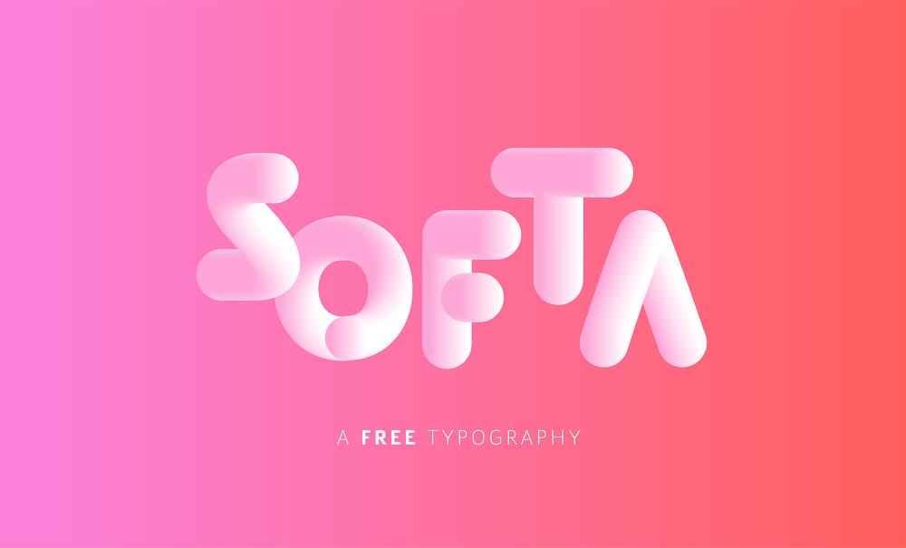 마시멜로에서 영감을 받은 무료 폰트 SOFTA - Free Font SOFTA