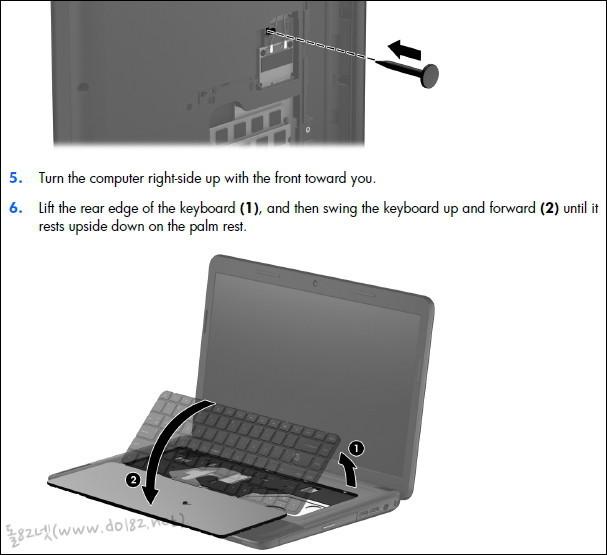 노트북 키보드를 분리
