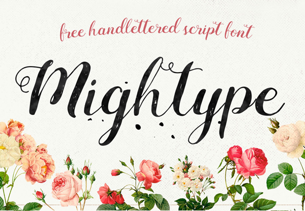 Mightype – Free Brush Font