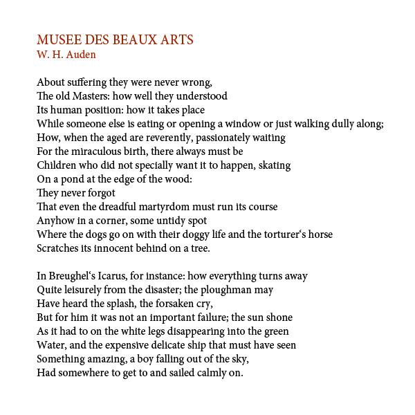 musee des beaux arts poem pdf