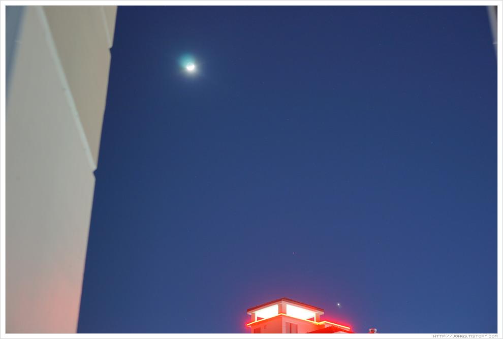 2017. 2. 2. 촬영한 달, 화성, 금성 일렬로 늘어선 천문현상 타임랩스