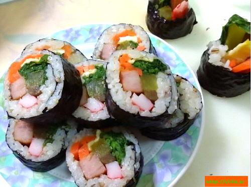 김밥 마는법