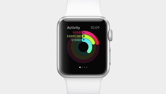 애플 시계 운동의 세가지 측면 측정