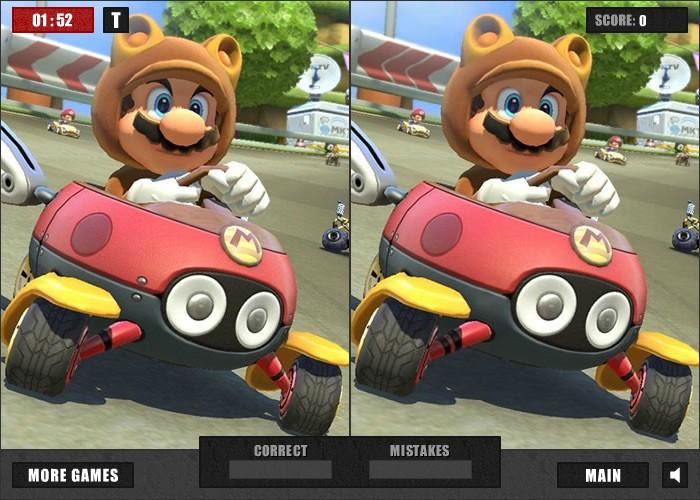 틀린그림찾기 마리오 자동차(Mario Car Differences) :: 플래시게임
