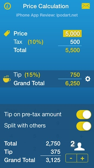 Sales Tax, Discount & Tip Calculator • Price Calculation 세금 팁 세일가 계산기