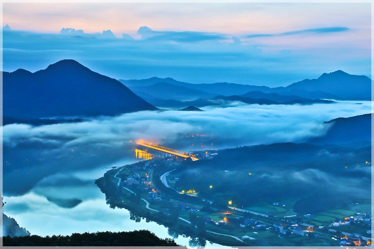 보납산에서 바라본 북한강 운해(2013.09.01)