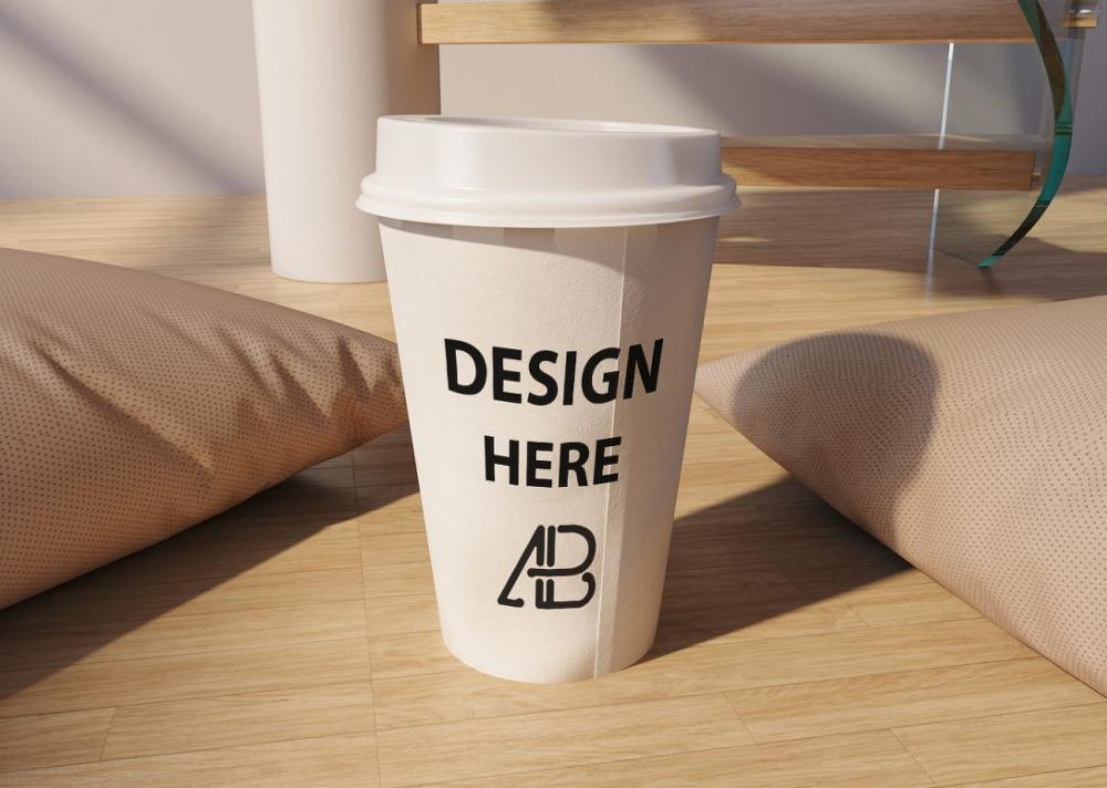 무료 커피 테이크아웃 컵 목업 PSD - Free Realistic Coffee Cup Mockup PSD