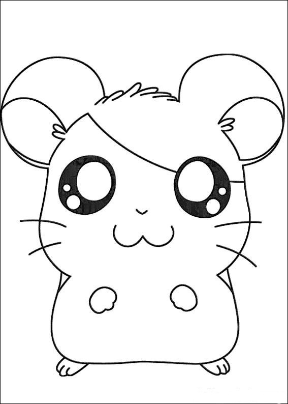Paper craft coloring pages origami - Dessin hamtaro ...