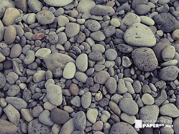몽돌해안의 돌멩이 사이에 버려진 지난 여름의 추억