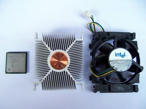 팬티엄4 CPU 방열판 냉각팬