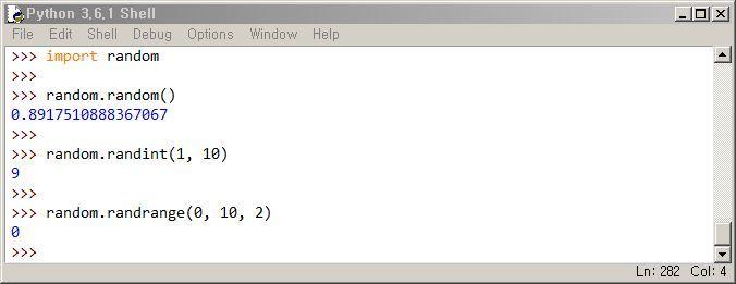 파이썬 랜덤 모듈 random, randint, randrange 함수