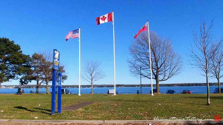 미국과 캐나다 국기입니다