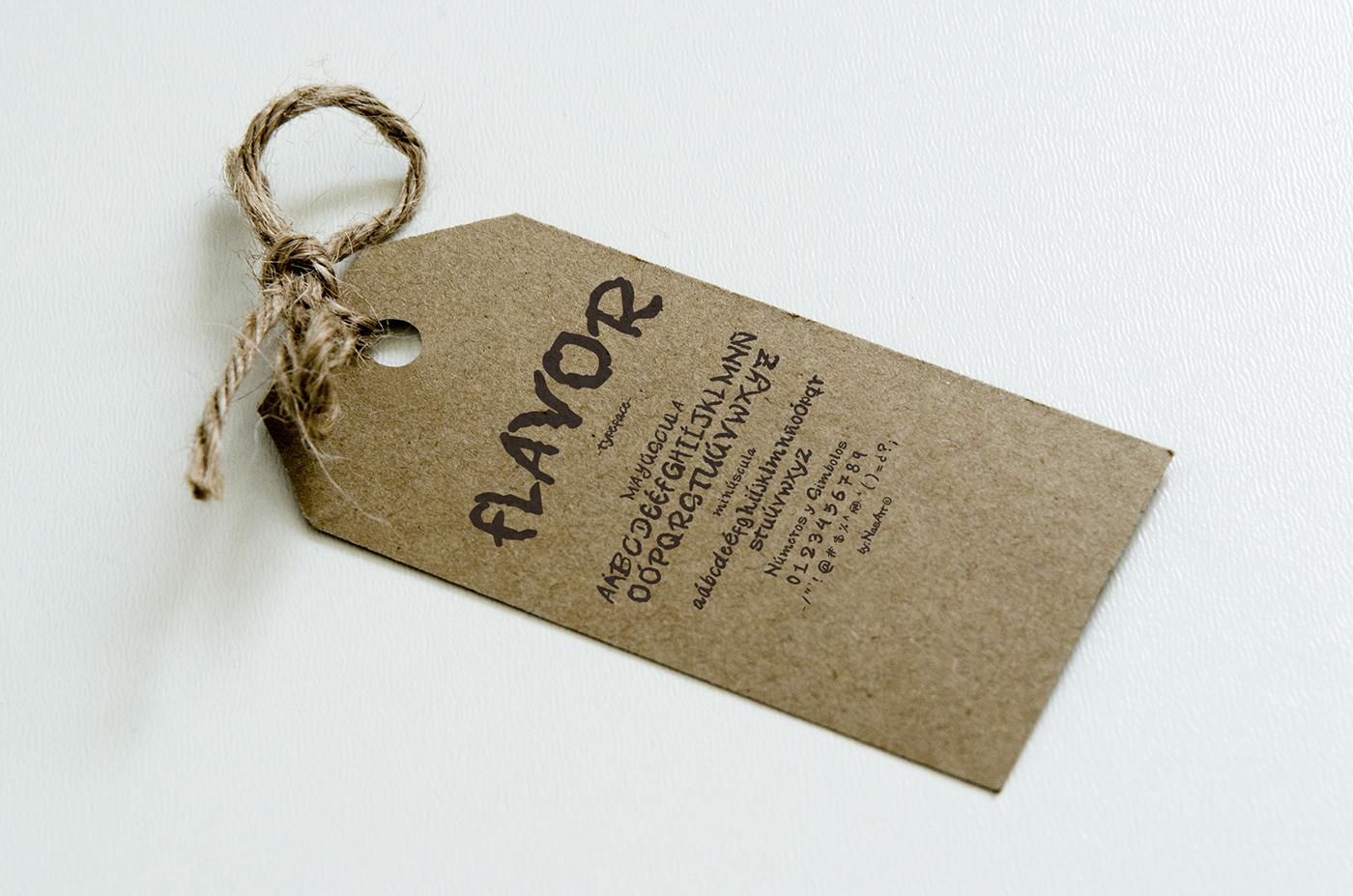 포스터에 어울리는 무료서체 Flavor Free Handmade Typeface