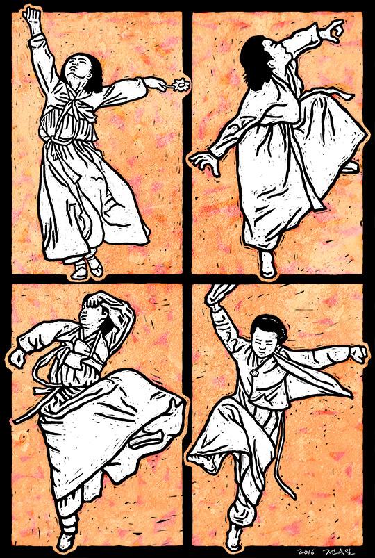 """[역사의한컷] """"망자의 넋을 달래는 춤사위"""""""