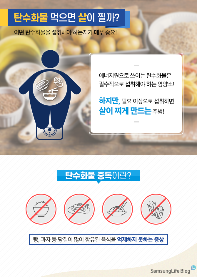 탄수화물, 탄수화물 중독, 비만, 탄수화물 섭취, 탄수화물 중독 증상