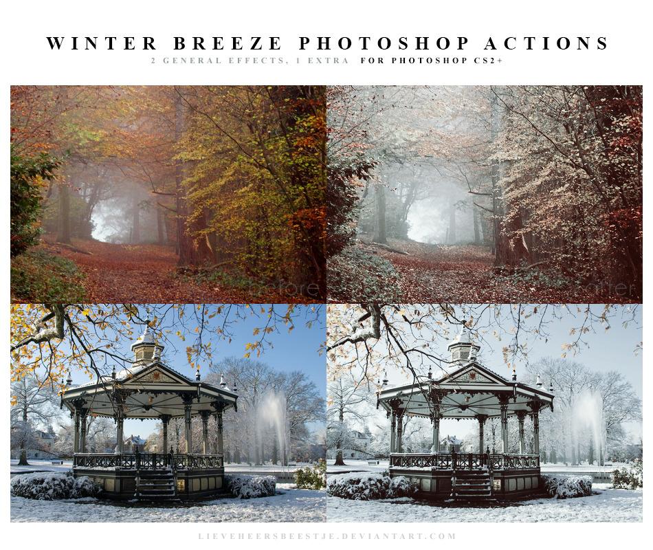 2 가지 겨울 바람(winter breeze) 포토샵 액션 - 2 Free Winter Breeze Photoshop Actions