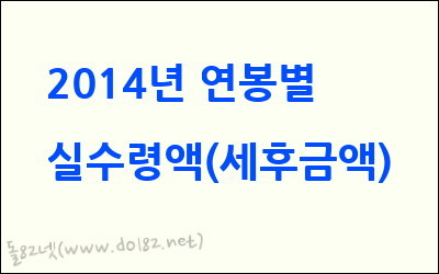 2014년 연봉별 실수령액(세후 금액), 월급