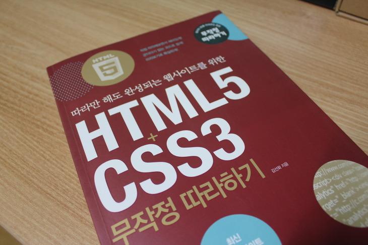 HTML5 CSS3 무작정따라하기 책 리뷰