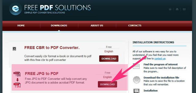 사진,이미지 JPG를 PDF 로 변환 하는 방법 free jpg to pdf 사용방법