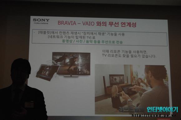 소니가 말하는 소니 엑스페리아 태블릿S 장점과 특징, BRAVIA - VAIO와의 무선 연계성을 갖춘 태블릿S