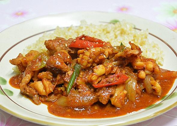 매콤한 오삼 불고기 덮밥